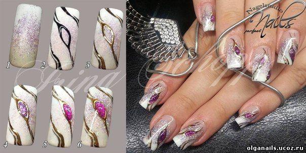 Дизайны ногтей пошаговое фото